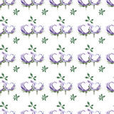 Hearts watercolor floral and romantic pattern stock illustration