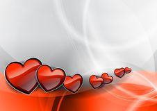 Hearts on the wave Stock Photography