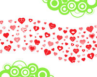 Hearts wave Royalty Free Stock Image