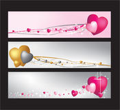 Hearts website banner set Royalty Free Stock Image