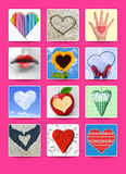 Hearts. Wedding and valentine poster, postcard and other design Stock Photography