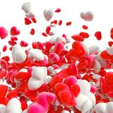 Hearts on white Stock Images