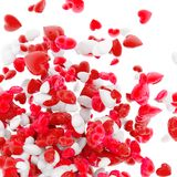 Hearts on white. Colored glossy hearts on white Stock Images