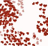 Hearts on white Royalty Free Stock Photography