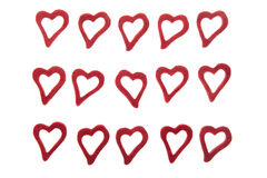 Hearts on white background Royalty Free Stock Image