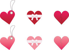 Hearts on a white background. Hearts tags and objects on a white background Royalty Free Illustration