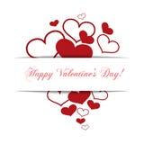 Hearts on a white background, concept love, Happy Valentine's da Royalty Free Stock Photo