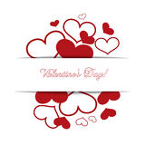 Hearts on a white background, concept love, Valentine's day. Vec Royalty Free Stock Photography