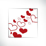 Hearts on  white background, concept love. Vector Stock Images