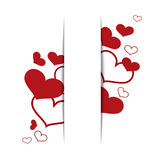 Hearts on a white background, concept love. Vector Royalty Free Stock Photos