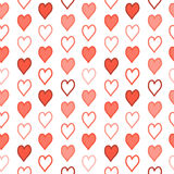 Hearts on a White Background Royalty Free Stock Images