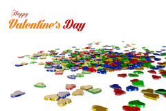 Hearts on white background Royalty Free Stock Image