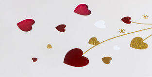 Hearts on the white background Royalty Free Stock Photo