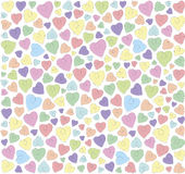 Hearts on a white background Stock Image