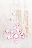 Hearts on white background Royalty Free Stock Photo