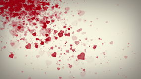 Hearts White Falling stock footage
