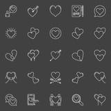 Hearts white vector icons Stock Photo