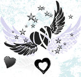 Hearts and wings Royalty Free Stock Photography