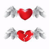 Hearts and wings Stock Image