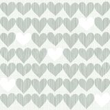 Hearts in winter colors scrapbook background Stock Photos