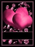 Hearts With Diamonds Royalty Free Stock Photos