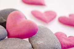 Hearts With Stones Stock Photos