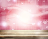 Hearts Wood Background Stock Image