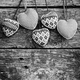 Hearts on wooden background Stock Images