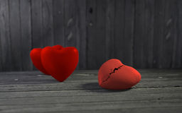 Hearts on wooden background Royalty Free Stock Photo