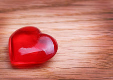 Hearts on Wooden background. Valentines Day Royalty Free Stock Photos