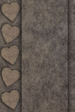 Hearts on wooden board Royalty Free Stock Photo