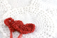 Hearts with wool Royalty Free Stock Photos