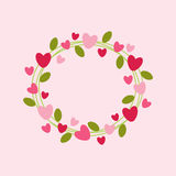 Hearts wreath Royalty Free Stock Images