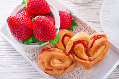 Hearts from yeast dough Royalty Free Stock Photo