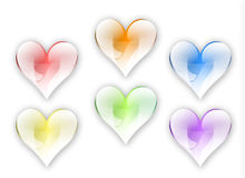 Hearts2 Immagine Stock Libera da Diritti