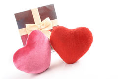 Heartsand gift Stock Photography