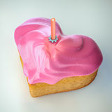 Heartshape cake Royalty Free Stock Photography