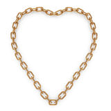Heartshape chain Stock Photography