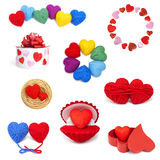 Heartshape collection Stock Photo