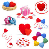 Heartshape collection Stock Photo