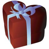 Heartshape giftbox Royalty Free Stock Images