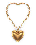 Heartshape  pendant Stock Photos