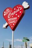 Heartshaped ślubna kaplica podpisuje wewnątrz Las Vegas, Nevada Zdjęcia Stock