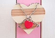 Heartshaped box with padlock Royalty Free Stock Image