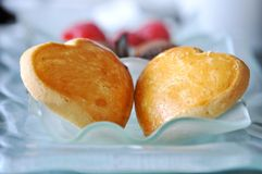 Heartshaped Cookie. Heart Shaped Cookies in a tray Stock Image