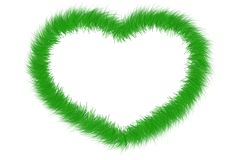 Heartshaped grass frame Stock Photo