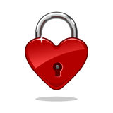 Heartshaped Lock Royalty Free Stock Images