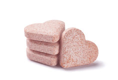 Heartshaped pills Royalty Free Stock Images