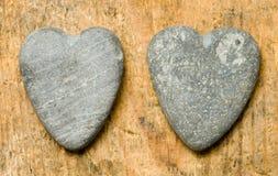 Heartshaped stones Stock Photography