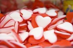 Heartshaped sweets Stock Photos